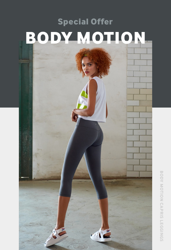 [70%단기세일] [MSBL01_04CH] BODY MOTION CAPRIS LEGGINGS